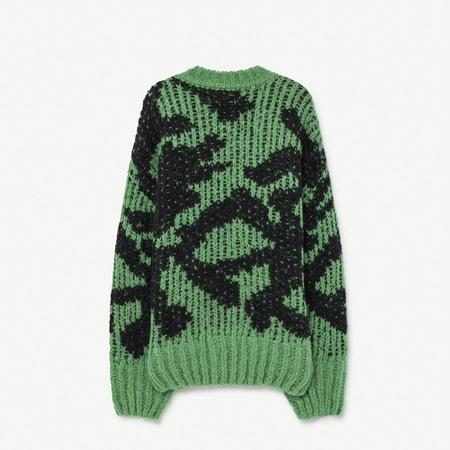 Kids The Animals Observatory Arty Raccoon Cardigan - Green/Black