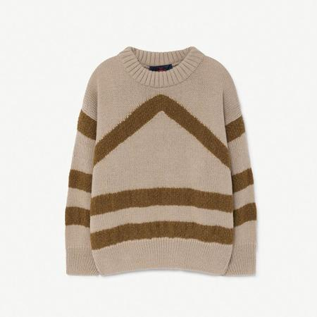 Kids The Animals Observatory Bull Sweater - Soft Beige