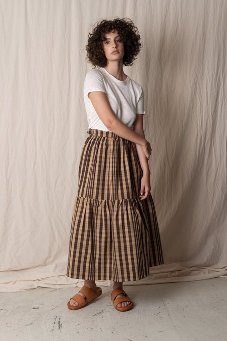 CAWLEY STUDIO HIGH NOON SKIRT - CHECK