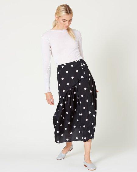 Sandy Liang Diner Skirt - Pearl Dot