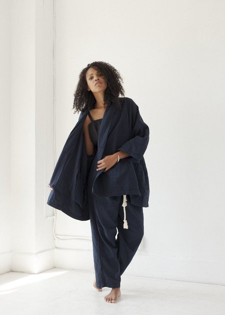 Atelier Delphine Haori Coat - Darkest Navy