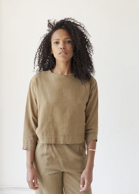 Me & Arrow Crew Neck Pullover - Khaki