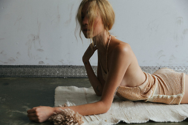 giu giu Chenille Nude Topless Halter