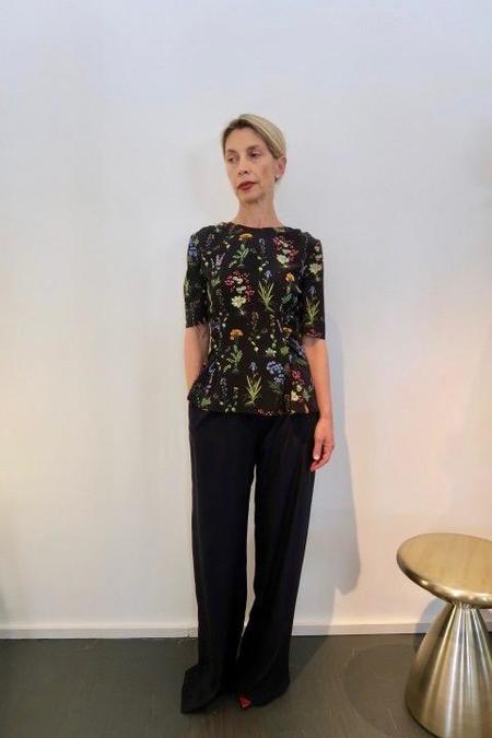Altuzarra Top - Black Floral