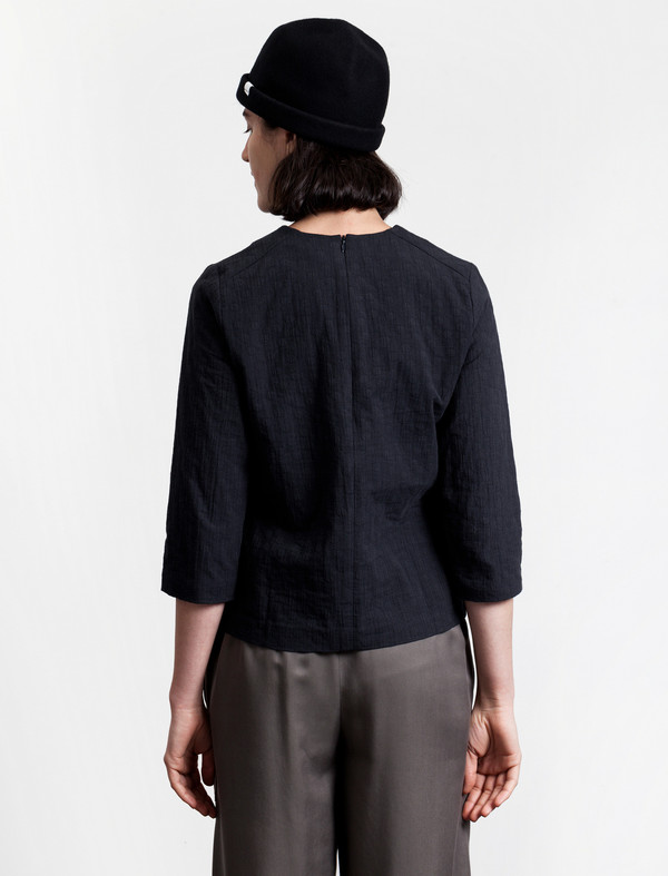 Norse Projects Janne Cotton Dot Shirt Navy