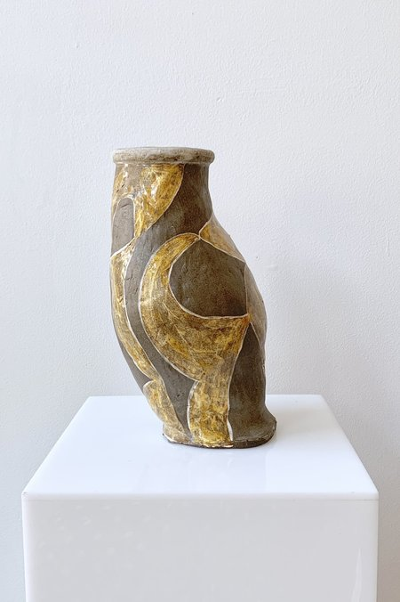 Jessica Hans Large Harlequin Vase - Yellow