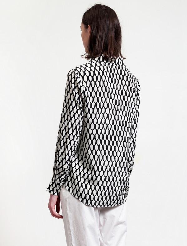 Marimekko Womens Scale Print Silk Shirt