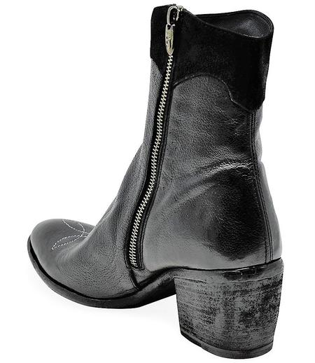 Madison Maison By Fauzian Jeunesse Leather Boot With Silver Star Detail - Nero