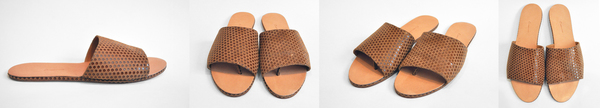 The Palatines Caelum Slide Sandal in Neutral Dot