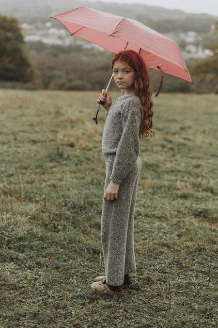 Kids The New Society Maia Knit Jumpsuit - Grey Melange
