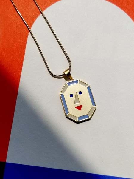 MATTER MATTERS JOY + PEACE reversible necklace - Blue/Light Blue