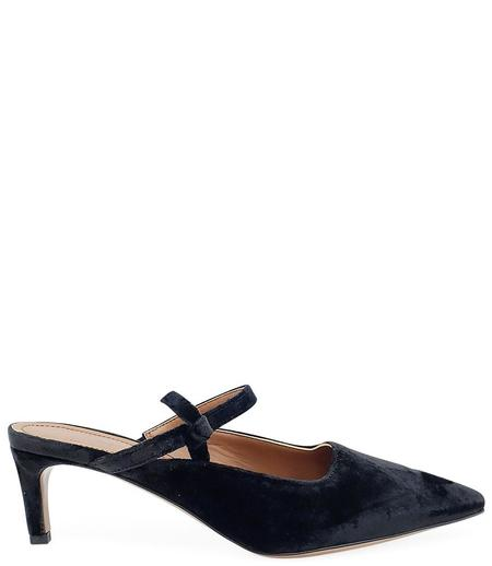 L'Autre Chose Leather Sling Back Pump - Black