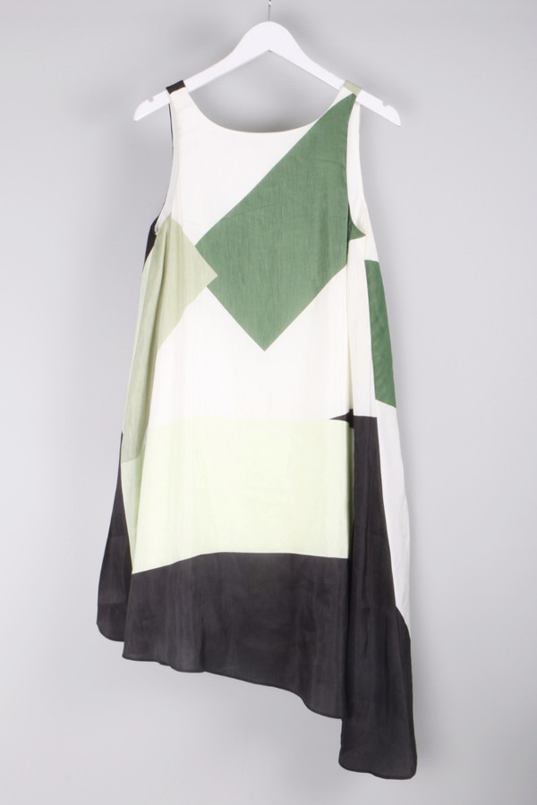 Tibi Silk Linen Dress