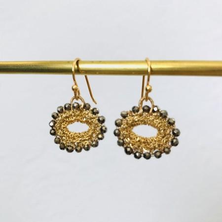 LA VIE BOHEME L.V.B. Mini oval chain Swarovski - gold