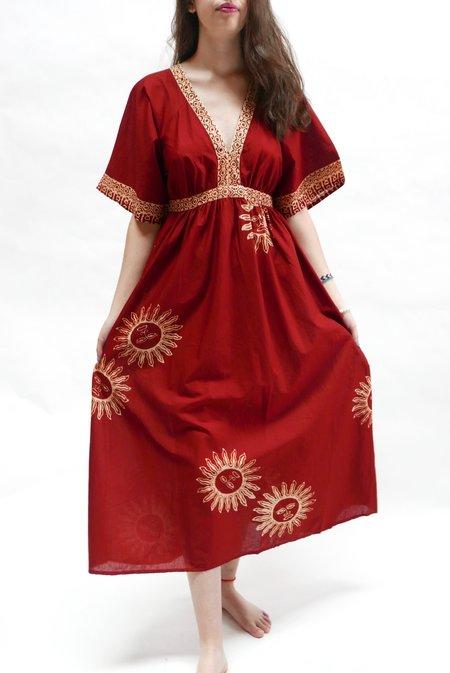 Natalie Martin Lara Dress - Garnet