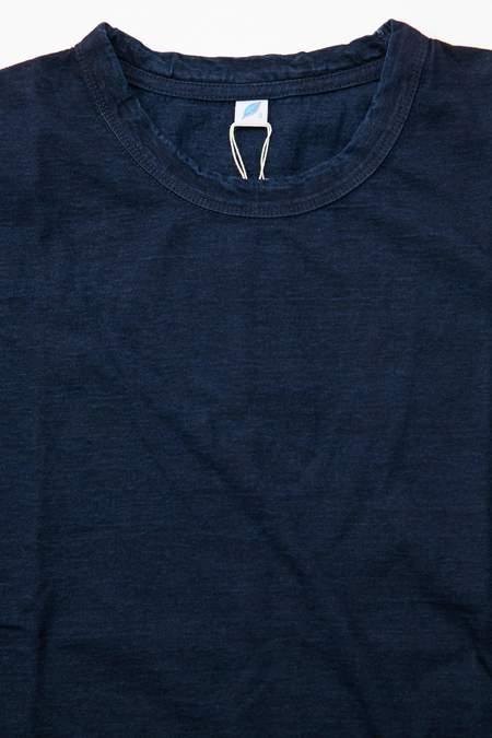 Pure Blue Japan SS5011 Knit Short Sleeve T-Shirt - Indigo