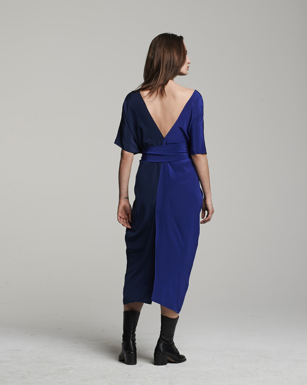 VOZ Two-Panel Dress - Cobalt