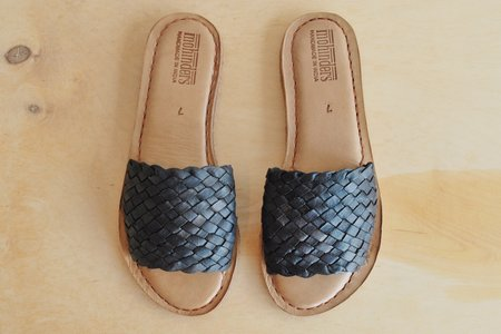 Mohinders Woven Leather Sandal - Black