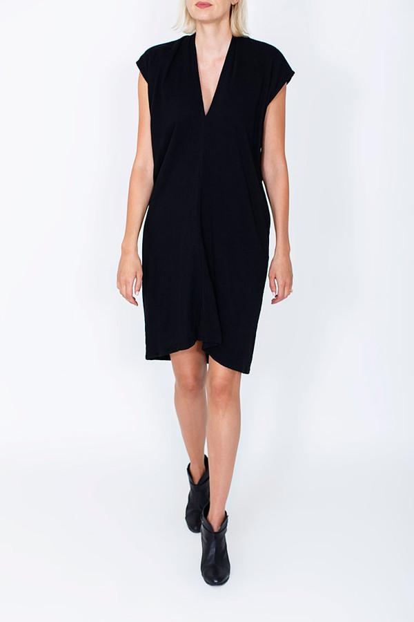 Miranda Bennett Black Everyday Dress, Double Gauze
