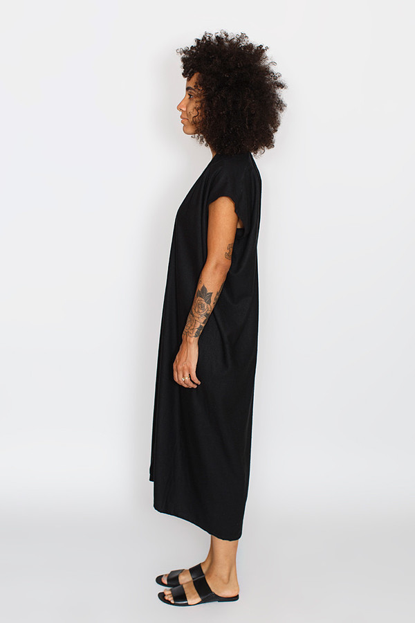 Miranda Bennett Black Everyday Dress | Oversized Silk