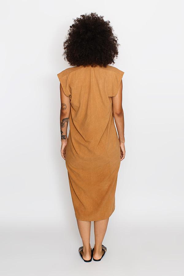 Miranda Bennett Camel Everyday Dress | Silk