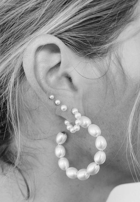 Meadowlark Juliet Hoop Earrings - silver
