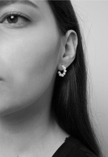 Meadowlark Paris Hoop Earrings - silver/pearl