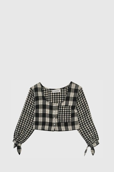 L.F.Markey Olaf Shirt - Black Check