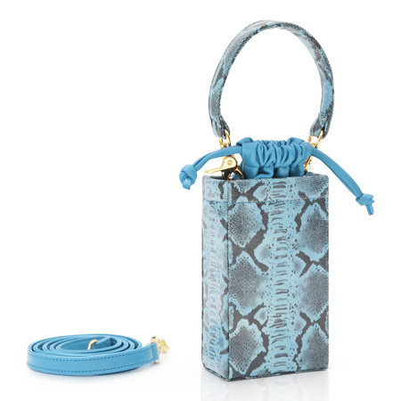 ALTAIRE phone box - blue snake embossed
