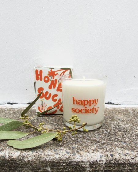 Happy Society Honey Suckle Candle Artist Collection
