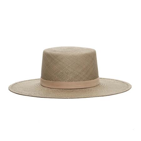 Janessa Leone Rena Boater Hat - Silver Sage