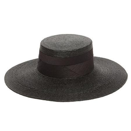 Janessa Leone Desi Boater Hat - Black