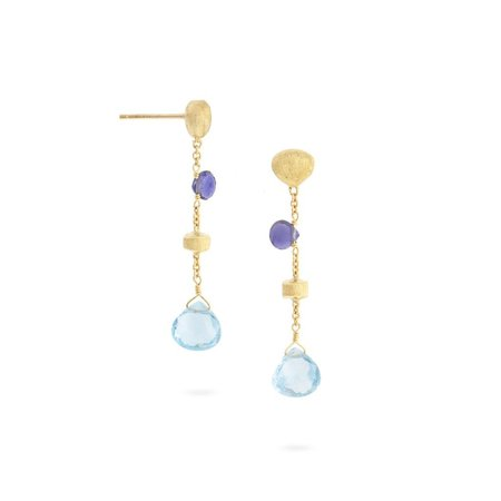 Marco Bicego Paradise Iolite and Blue Topaz Short Drop Earrings