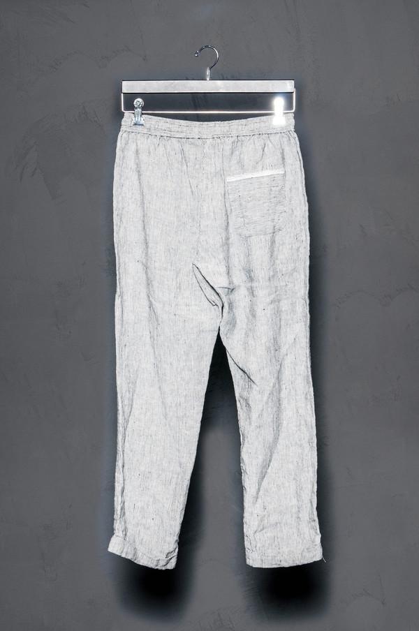 KES Linen Cuffed Pant Striped