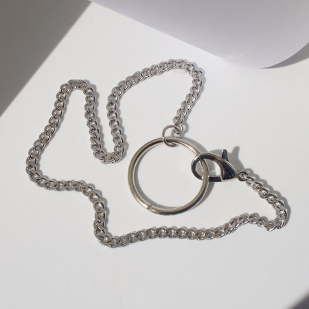 Unisex Eleventh House Jewellery O-Ring Necklace - Silver