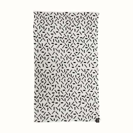 Kids Giannina Capitani Dash baby blanket - White/Black