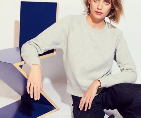MONOGRAM Solid Sweatshirt - Heather Grey