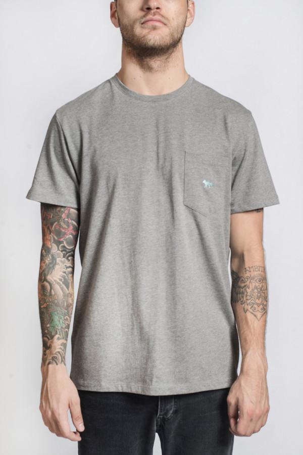 Men's Maison Kitsune Embroidered Pocket Tee Shirt