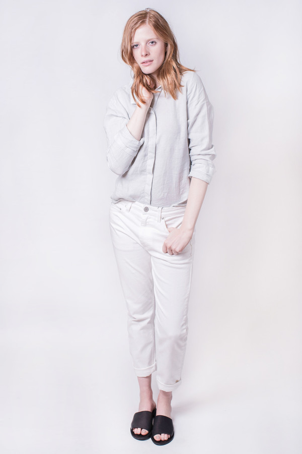 Hope Jolie Blouse Light Grey
