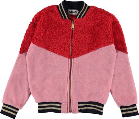 Kids Molo Una Fleece Jacket - Fiery Red