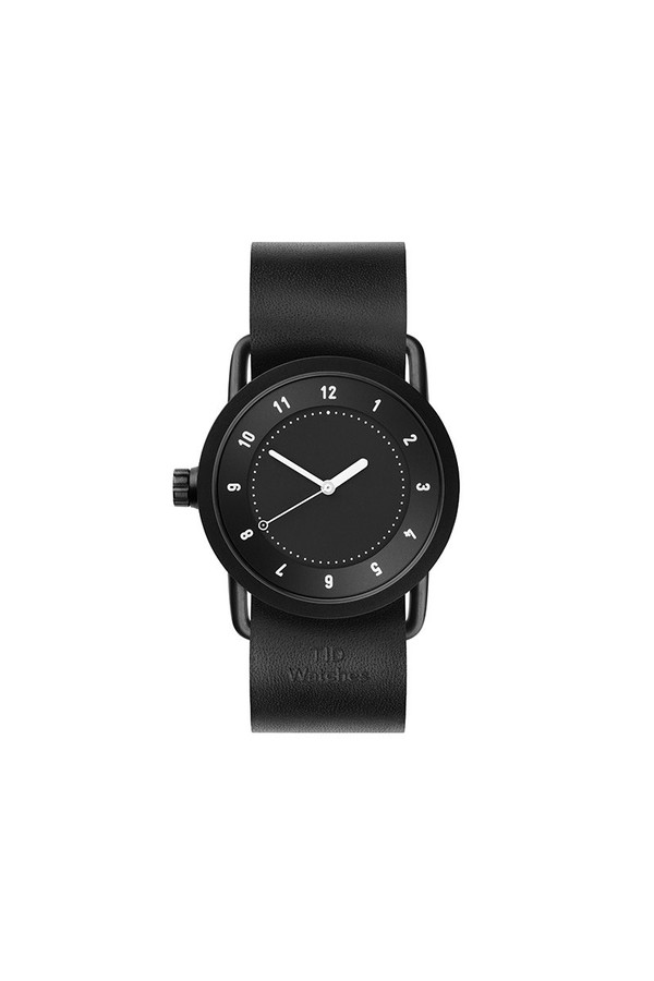 TID Watches TID No.1 36 Black / Black Leather Wristband