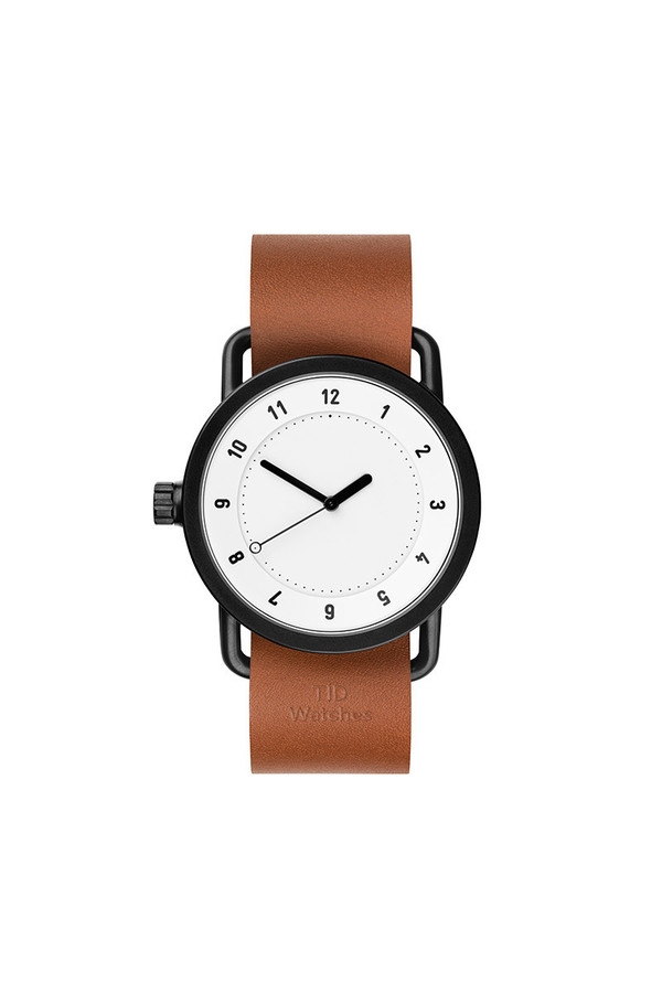TID Watches TID No.1 White / Tan Leather Wristband