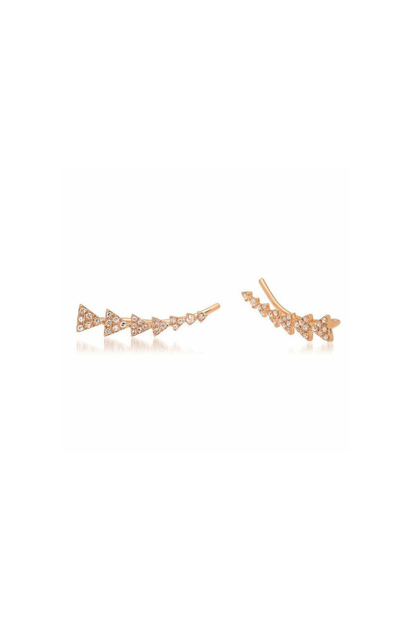 Sachi Jewelry Triangle Train Ear Crawlers