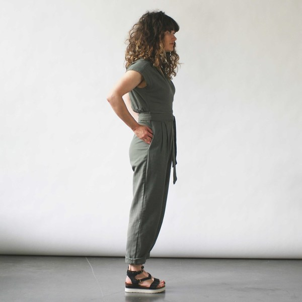 Curator Maren Pantsuit Dusty Green