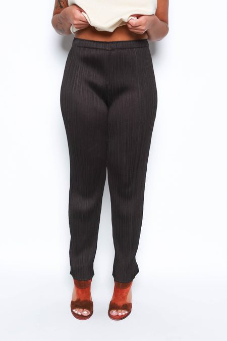 Issey Miyake Cropped Trouser - Charcoal Brown
