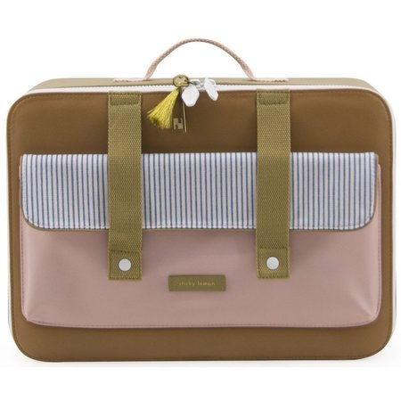 kids sticky lemon suitcase deluxe - brown/pink