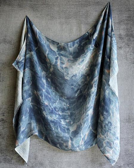 Martyn Thompson Linen Radiant Scarf - Blue
