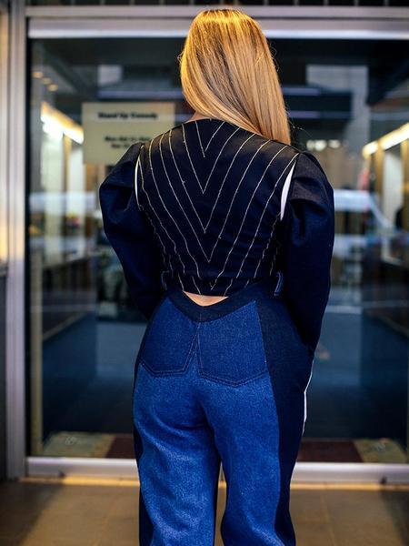 Francesca Longo Denim Top - Blue