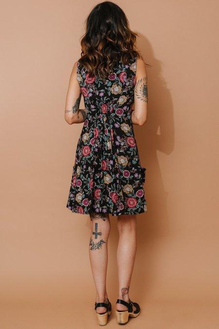 Field Day Sleeveless Fiona Dress - Dark Bloom