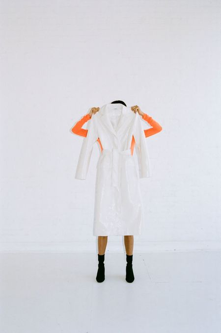 Nomia LONG SLEEVE MESH MOCKNECK - FLUORO ORANGE
